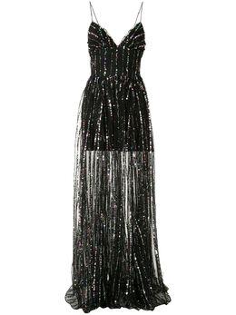 Rasario полосатое платье из тюля с пайетками 0036S201
