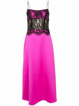 Rasario атласное платье на бретелях с кружевными вставками 0033S203