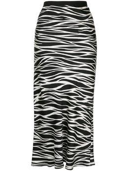 Anine Bing юбка Bar с зебровым принтом A044001072