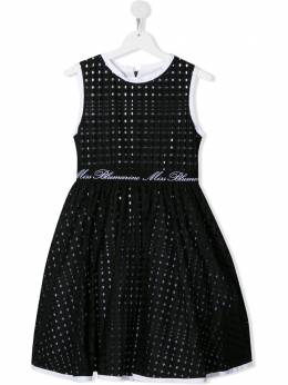 Miss Blumarine платье с перфорацией и логотипом MBL2649