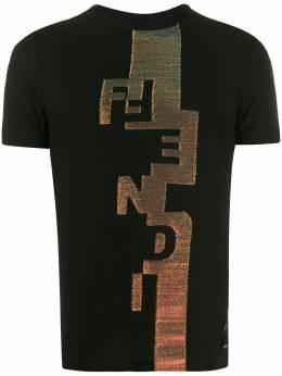 Fendi футболка с люрексом и логотипом FY0894AAOF