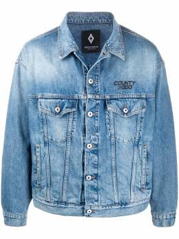 Marcelo Burlon County Of Milan джинсовая куртка с принтом Atmosphera CMYE019S20DEN0034010