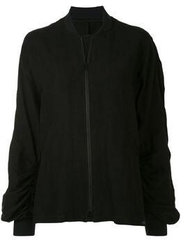 Yohji Yamamoto куртка-бомбер со сборками FSB56803