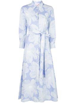 Carolina Herrera платье-рубашка с поясом и цветочным принтом S2011N504AGF
