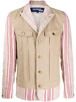 Junya Watanabe Man куртка-рубашка в полоску WEJ001S20