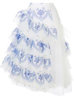 Simone Rocha юбка с оборками и завышенной талией 3368