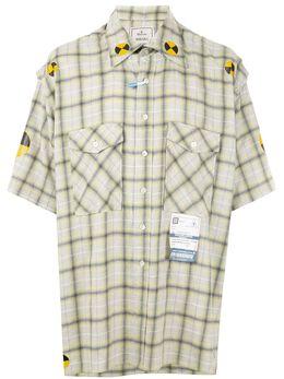 Maison Mihara Yasuhiro клетчатая рубашка с короткими рукавами A04SH141