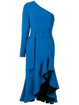 Reinaldo Lourenco платье миди с оборками 23230144