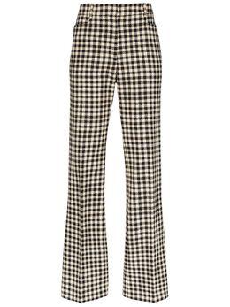 Victoria Beckham брюки кроя слим в ломаную клетку 1220WTR001175E