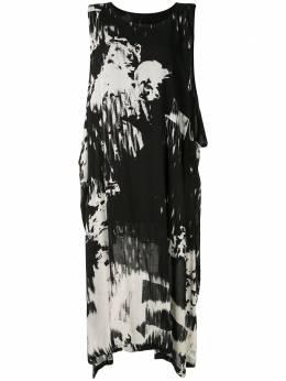 Y's платье без рукавов с абстрактным принтом YND17208