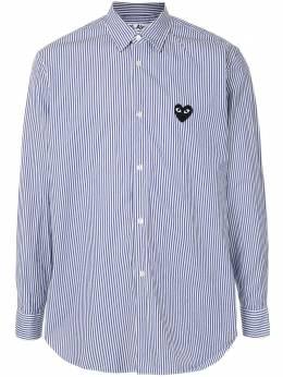 Comme Des Garcons Play полосатая рубашка с нашивкой-логотипом AZB018051
