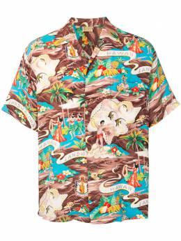 Fake Alpha Vintage 1950s Hawaiian short-sleeved shirt HA0044