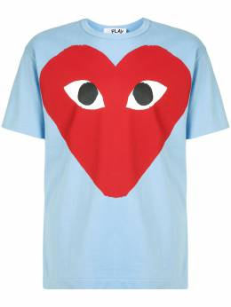 Comme Des Garcons Play футболка с круглым вырезом и принтом AZT274051