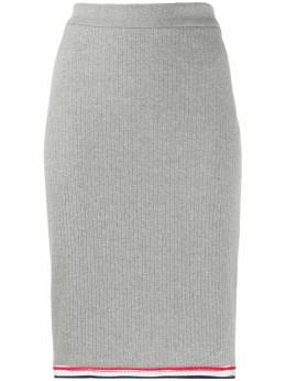 Thom Browne юбка в рубчик с завышенной талией FJK031A06313