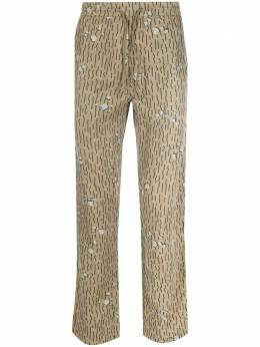 Maharishi прямые брюки с принтом Neon Rain 8551