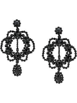 Simone Rocha массивные серебряные серьги-подвески ERG1990903CRYSTAL
