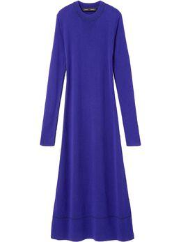 Proenza Schouler платье с длинными рукавами и круглым вырезом R2017369KS042