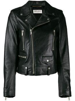 Saint Laurent укороченная байкерская куртка 584491YC2UE
