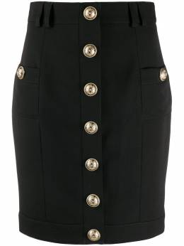 Balmain короткая однобортная юбка TF14306167L