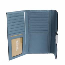Michael Kors Pale Blue Leather Cassie Continental Wallet MICHAEL Michael Kors 285629