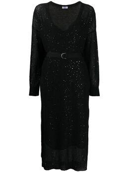 Brunello Cucinelli платье миди с пайетками M10552A92CJ101