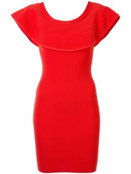 Paule Ka приталенное платье с оборками на воротнике 419RO50