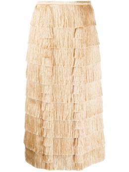 Marco De Vincenzo многослойная юбка с бахромой MQ5225MDVFR01