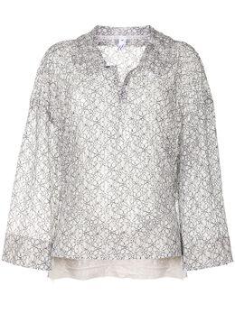 Comme Des Garcons Comme Des Garcons прозрачная блузка с цветочным принтом REB028S20