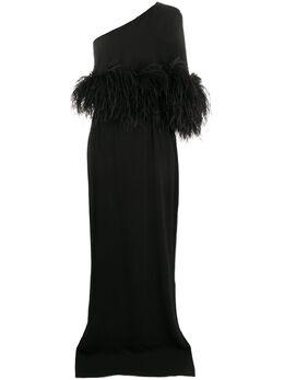 16Arlington вечернее платье Alder с перьями G006S20