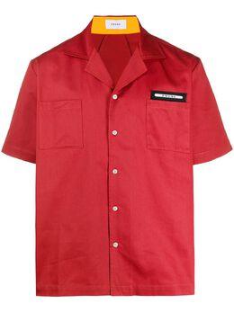 Rhude рубашка с контрастными вставками RHU07MS20149CRED