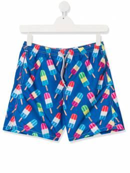 Mc2 Saint Barth Kids плавки-шорты с принтом JEANPOPSICLES