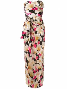 Bambah платье с драпировкой и цветочным принтом SS20BMSS20007