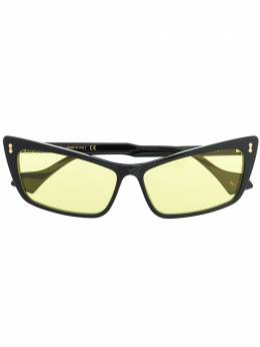 Gucci Eyewear солнцезащитные очки в прямоугольной оправе 596034J0740