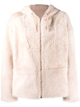 Yves Salomon куртка на молнии с капюшоном 20EYV60362MERL