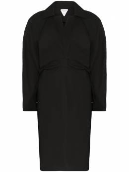 Bottega Veneta платье-тренч с отлетной кокеткой 618495VKPB0