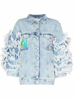 Natasha Zinko джинсовая куртка с оборками SS2040187COTTONLIGHTWASH