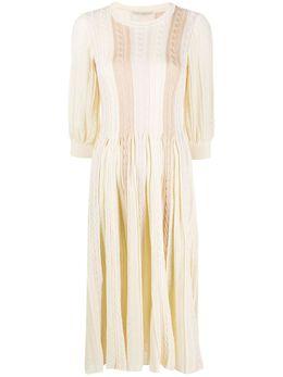 Marco De Vincenzo платье фактурной вязки MZT089MDVCO01