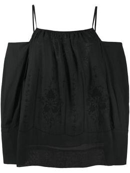 Erika Cavallini блузка с вышивкой E0SI01