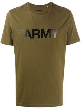 Yves Salomon Homme футболка Army с логотипом 20EHH02969H20W