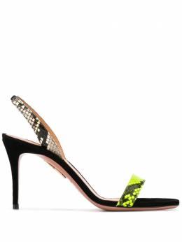 Aquazzura босоножки на высоком каблуке с ремешком на пятке SNUMIDS0FSSARB