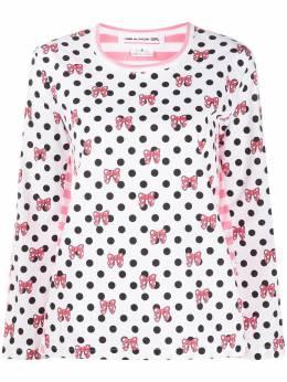 Comme Des Garcons Girl футболка в горох с принтом NET006051