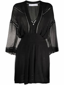 Iro платье мини с прозрачными вставками WM33BOMPANA