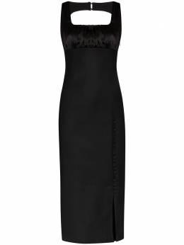 Materiel приталенное платье с квадратным вырезом MBR2TAM17345DRBK