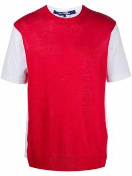 Junya Watanabe Man футболка с контрастной вставкой WEN005051