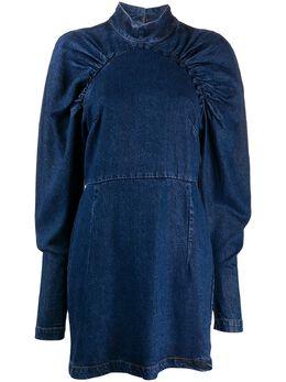 Rotate джинсовое платье со сборками 900676