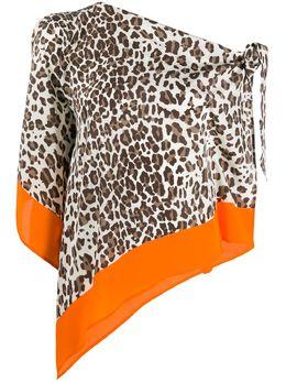 P.a.r.o.s.h. блузка асимметричного кроя с леопардовым принтом D311305SOLEO