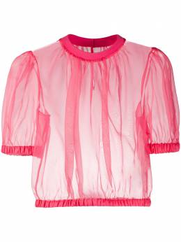 Dolce&Gabbana прозрачная укороченная блузка F74F1TFU1BU