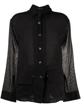 Ann Demeulemeester рубашка оверсайз с поясом 20012000P121