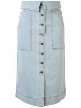 Ulla Johnson джинсовая юбка миди Andy SP200323
