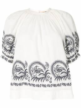 Ulla Johnson блузка Blythe с вышивкой SP200204